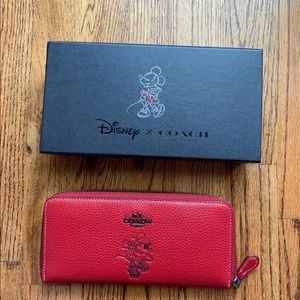New in box Disney x Coach Wallet